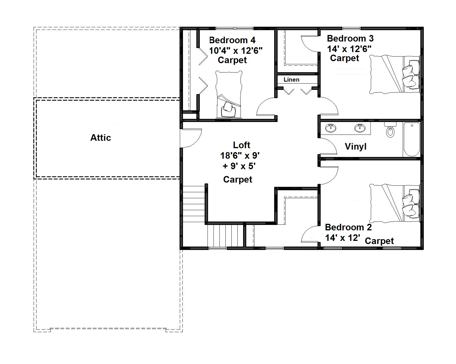 link to Large Second Floor Plan